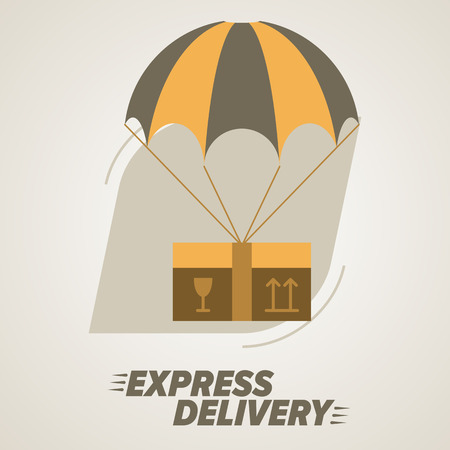 trucking: Express Delivery Services. Elements of Trucking. Worldwide Shipping. Icon Delivery vector. Express Delivery of Goods. Delivery Service, Cargo Delivery.
