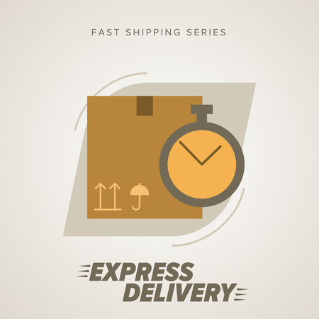 delivery service: Express Delivery Services. Elements of Trucking. Fast Shipping. Icon Delivery vector. Express Delivery of Goods. Delivery Service, Cargo Delivery. Illustration