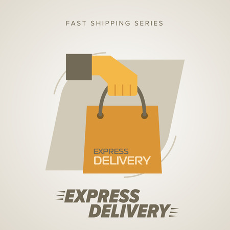 fast delivery: Express Delivery Services. Elements of Trucking. Fast Shipping. Icon Delivery vector. Express Delivery of Goods. Delivery Service, Cargo Delivery. Illustration