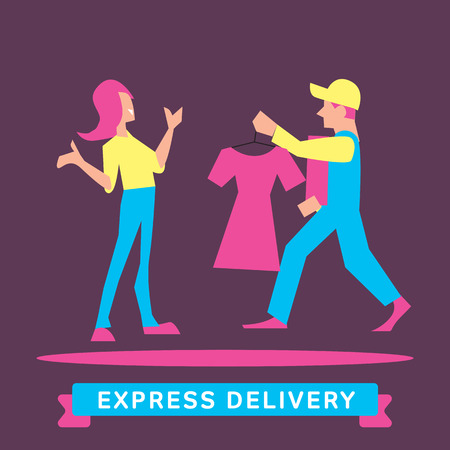 house shopping: Express Delivery Services. Elements of Trucking. Fast Shipping. Icon Delivery vector. Express Delivery of Goods. Delivery Service, Cargo Delivery. Illustration