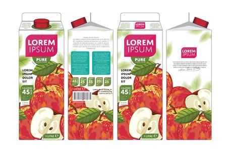 Apple Juice Carton Cardboard Box Pack Design