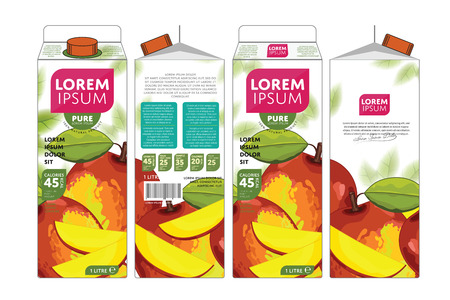 branding: Mango Juice Carton Cardboard Box Pack Design