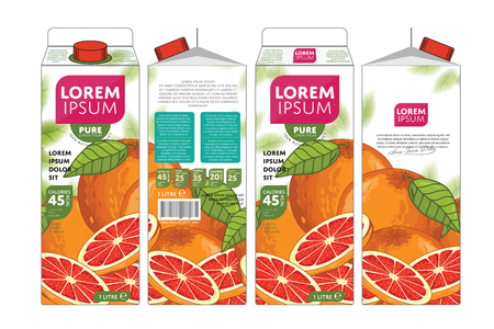 grapefruit: Grapefruit Juice Carton Cardboard Box Pack Design