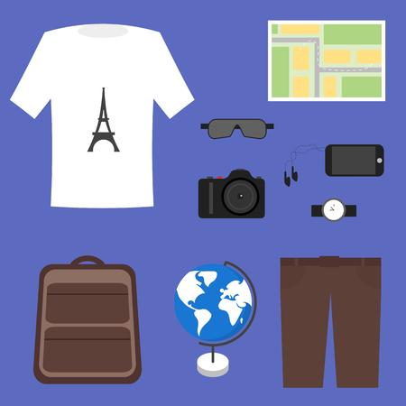 tourist: Tourist Outfit Vector