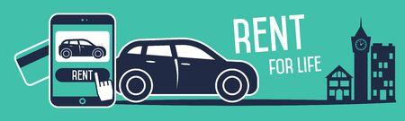 rental: Rent a cars banner