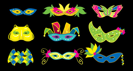 orleans symbol: Mardi Gras Mask. Attributes of Mardi Gras Festival. Mardi Gras Vector Illustration. Illustration