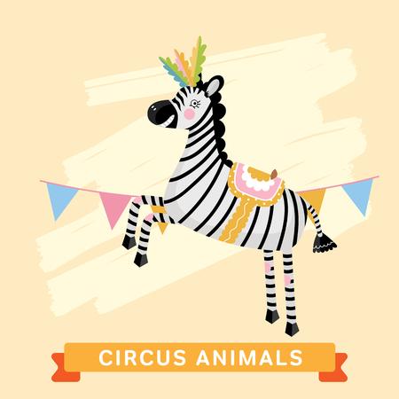 cartoon circus: Circus Zebra