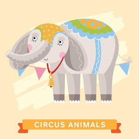 circus elephant: Circus Elephant Illustration