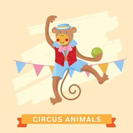cartoon circus: Circus Monkey