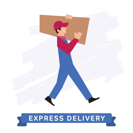 delivery person: Delivery Service icon - delivery man