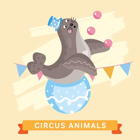 cartoon circus: Circus Seals