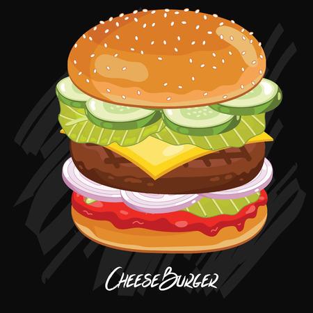eating burger: Burger