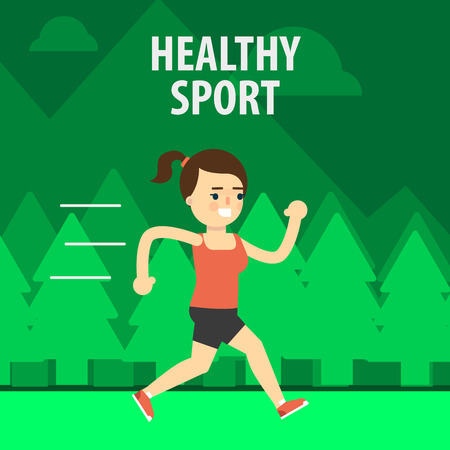 aerobic exercise: Aerobic exercise, running on jogging on the street. Gymnastics, weight loss. Healthy lifestyle. Fit, athletic, activity.