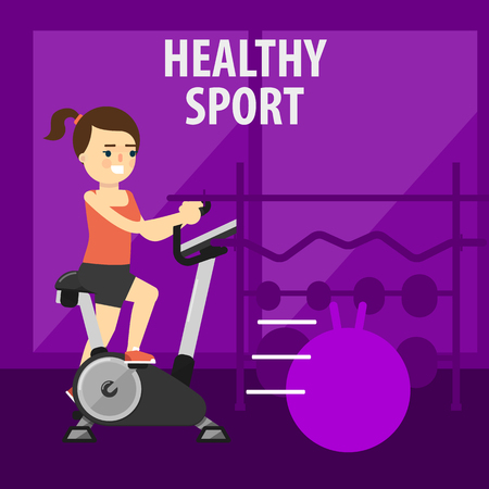aerobic exercise: Aerobic exercise, running on riding on the ellipsoid. Healthy lifestyle. Fit, athletic, activity.