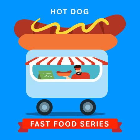 hot dog: Selling hot dog