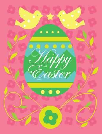Pascua feliz, vector tarjeta de Pascua, Pascua de fondo