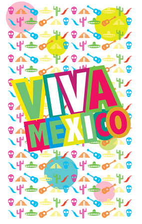enchiladas: Viva Mexico, vector illustration, colorful vector poster Illustration