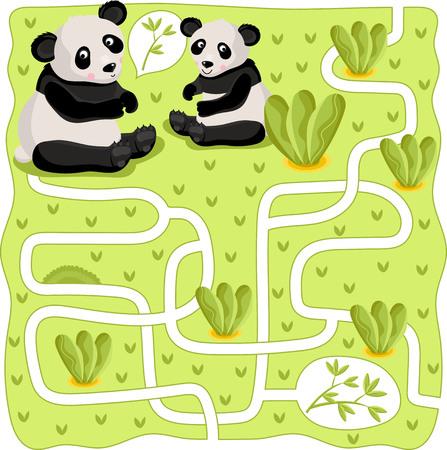 Doolhof vector, doolhof spel. Cartoon Maze for Kids. Educatief spel voor kinderen, grappig spel. Vector Labyrinth. Childrens logica spel. Help de held om een uitweg te vinden.