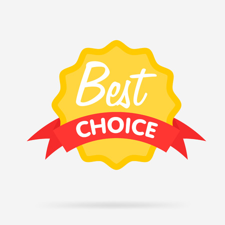 the best: Best choice isolated cute badge, vector illustration Illustration