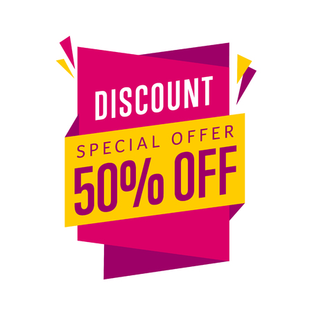 offer: Discount tag vector isolated.