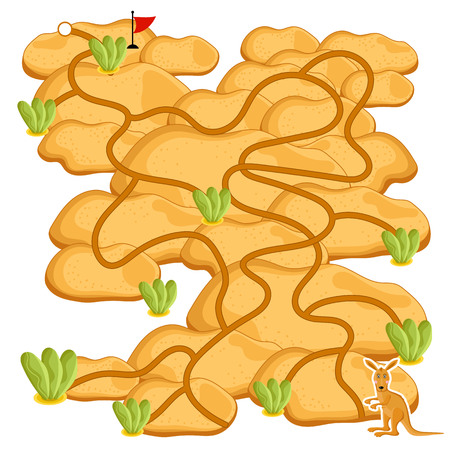 Maze raster, maze game. Cartoon Maze for Kids. 版權商用圖片 - 54100249