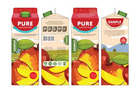 mango juice: Mango Juice Carton Cardboard Box Pack Design