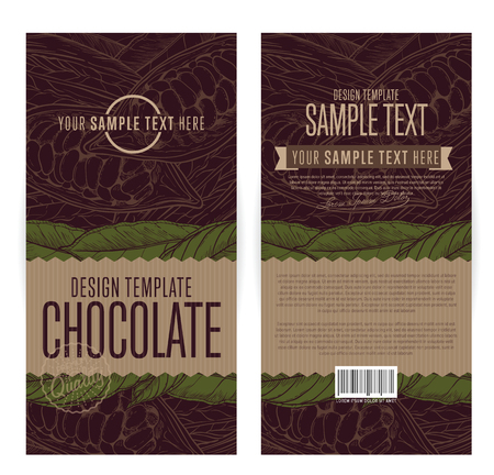 Chocolate packaging design template vector illustration.