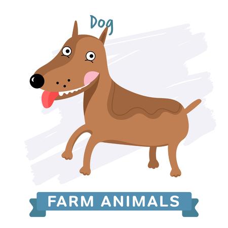 raster: Dog isolated, raster illustration. Stock Photo
