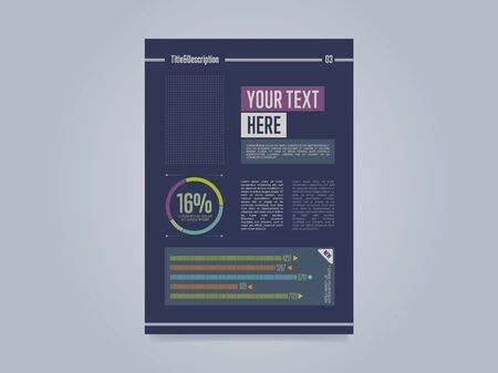 a4: Business brochure template, vector illustration. Abstract brochure layout, A4 size.