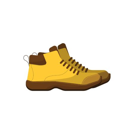 boot: Hiking boot icon on white background, vector illustration