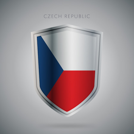 czech republic flag: Flags europe vector icon. Czech Republic flag, isolated. Modern design. National country flag. Country of member the European Union. Illustration