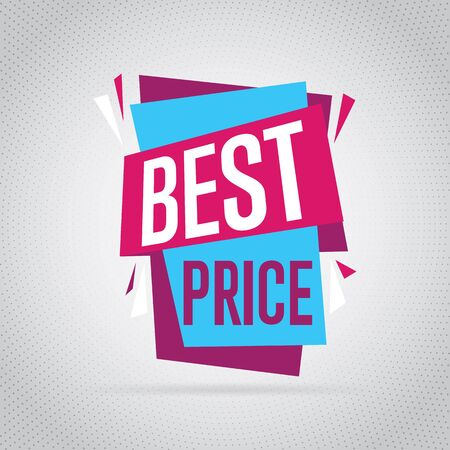 label sticker: Sale badge, vector in flat design style. Best price badge.