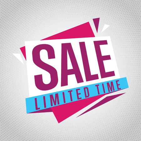 limited time: Sale badge, vector in flat design style. Sale limited time badge.
