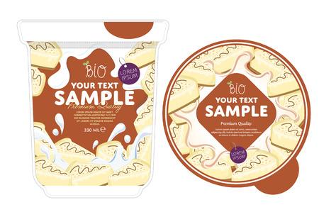 cheesecake: Cheesecake Yogurt Packaging Design Template. Yogurt Splash on Cheesecake. Milk Spash, Cheesecake yogurt. Sweet desert. Healthy breakfast. Dairy product. Organic food.