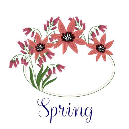 Flores aisladas vector sobre fondo blanco. Linda ilustración