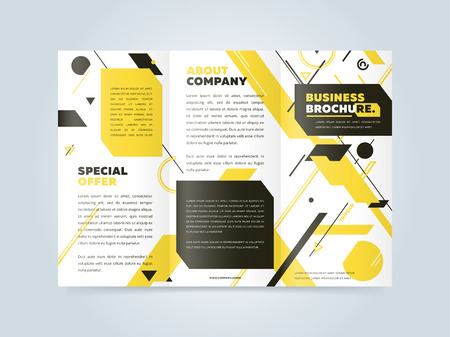 reference: Trifold business brochure design template.
