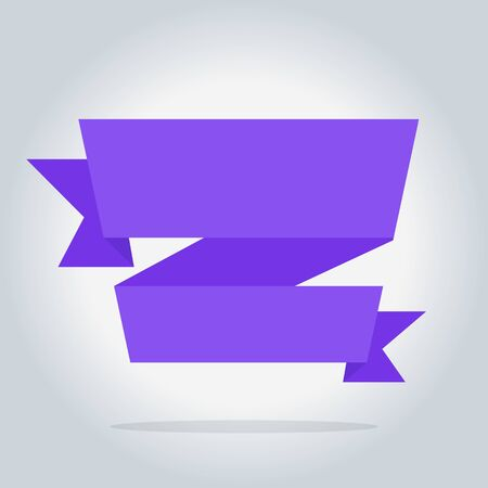 bitmap: Bitmap banner isolated icon, origami style, bitmap illustration Stock Photo