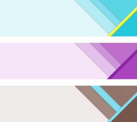 bitmap: Material design banner elements. Template layout for UI or web banners. Bitmap illustration. Stock Photo