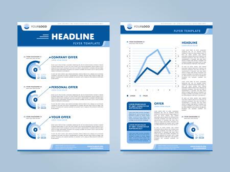 Brochure design template, business layout, vector illustration.