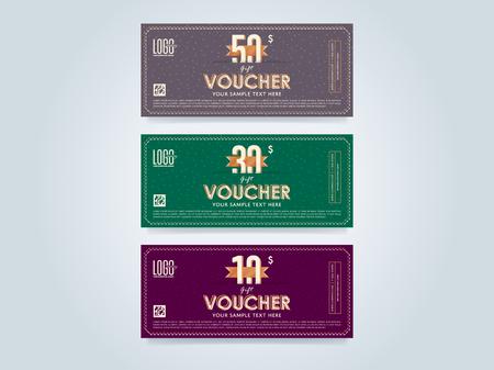 Gift discount voucher template vector layout special offer gift discount voucher template vector layout special offer coupon business voucher layout maxwellsz