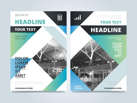 Broschüren-Design-Vorlage, Business-Layout, Vektor-Illustration. Cover und Rückseite für Flyer oder Magazin.