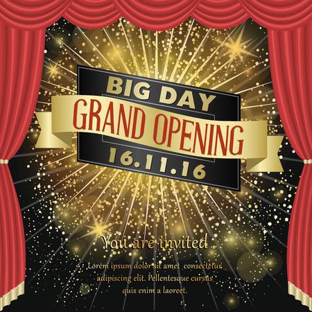 commemorate: Grand opening celebration banner design vector illustration