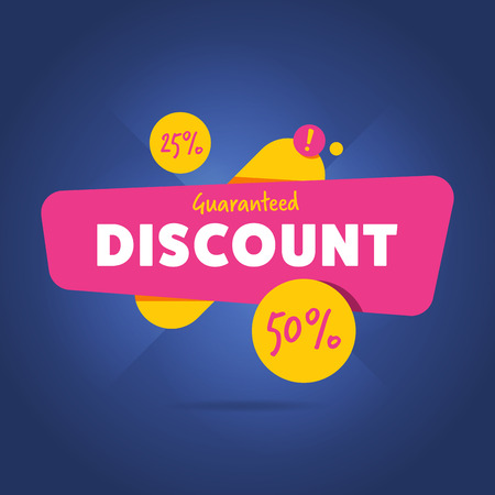modern illustration: Special discount advertisement promo banner flat abstract isolated vector illustration Illustration