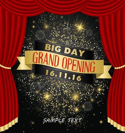 celebration: Grand opening celebration banner design vector illustration