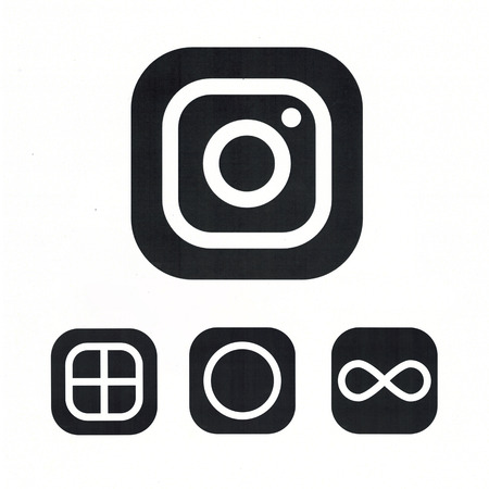 MOSCOW, RUSSIA - MAY 14, 2016: New Instagram logotype camera. Instagram - free application for sharing photos and media content of a social network.
