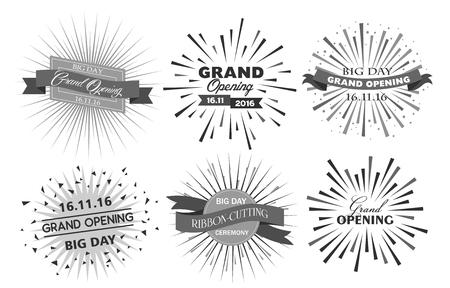 Grand opening celebration rays design vector illustration