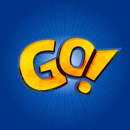 Go phrase written in style of Pokemon Go logo