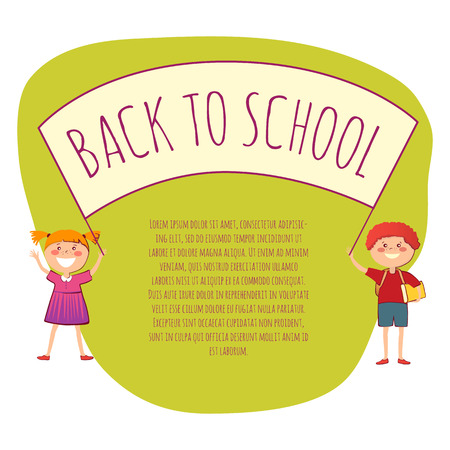 back view student: Welcome back to school conept vector illustration