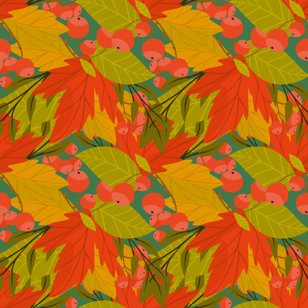 wind down: Autumn background with fall leaf vector illustration