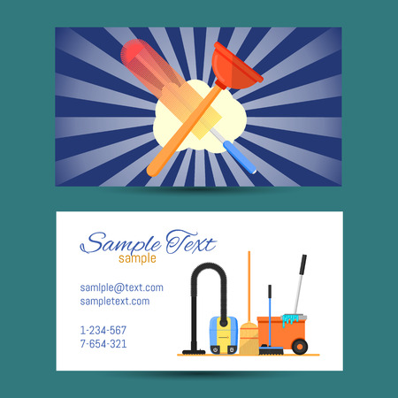 Business card template of cleaning service vector illustration Illustration